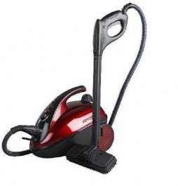 Polti Vaporetto Comfort Steam Cleaner, Black/ Red