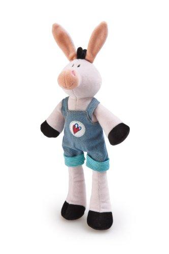 "Trudi Plush Donkey in Blue Overalls, 8"" - 1"