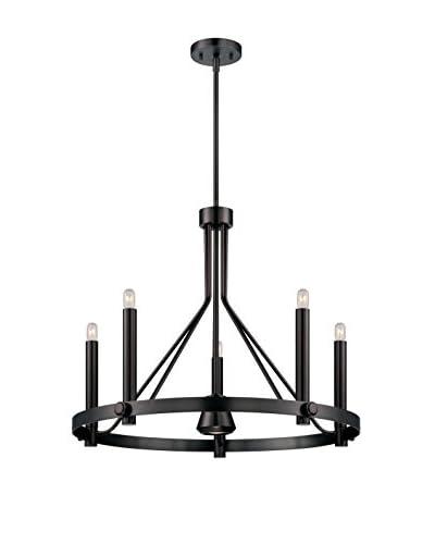 Nuvo Lighting Telegraph 6-Light Chandelier, Hazel Bronze