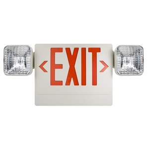 Utilitech Red Led And Halogen Hardwired Exit And Emergency Light