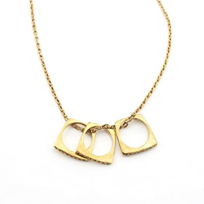 Brass Ring Multiwear Necklace