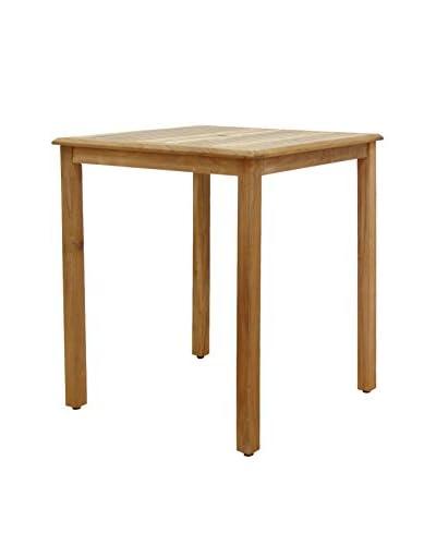 Amazonia Teak Ares Square Bar Table, Brown