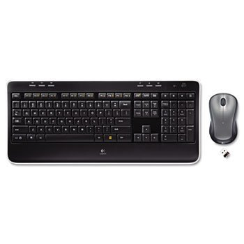 Logitech MK520 Wireless Desktop Set, Keyboard/Mouse, USB, Black-- by BND 97855066718 920002553 logitech wireless combo mk520 with keyboard and mouse