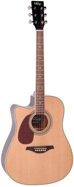 Vintage Natural Electro Acoustic Guitar