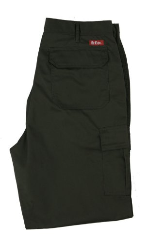 Lee Cooper Workwear, Pantaloni cargo da lavoro, 34 Nero