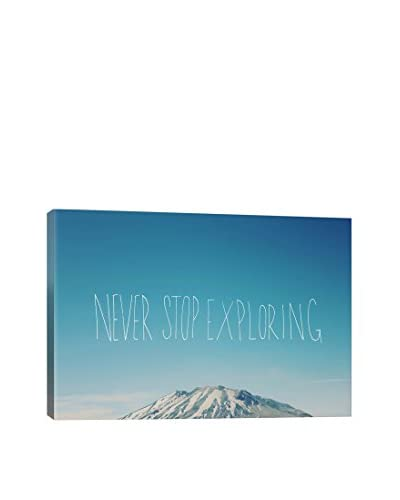 Leah Flores Never Stop Exploring Canvas Print, Multi, 18″ x 26″
