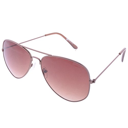 Iris Iris Aviator Brown Sunglasses (Ie167-Brown-Metalic-Frame)
