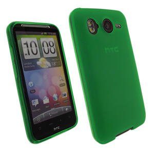 Vierra GREEN Protective Gel Skin Case Cover for HTC Sensation