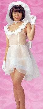 スケスケウエディングドレス