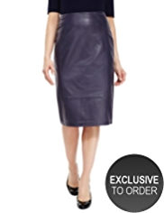 Twiggy for M&S Collection Pencil Skirt with Leather Front
