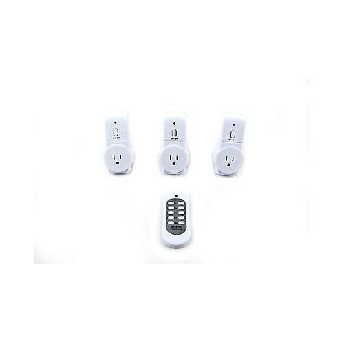 ALEKO® RLS3 Wireless Remote Control Outlet Light Switch Three Outlets with Remote