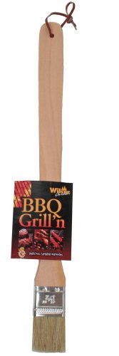 BBQ Brush with Wooden Handle - Extra Long, 15.5-inch