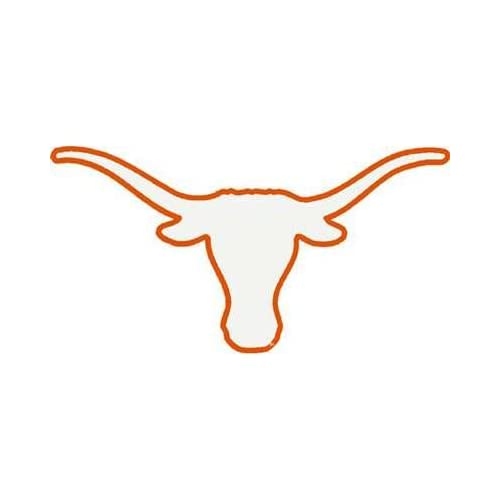 Amazon.com : University Of Texas Longhorns Decal Bevo White with Burnt