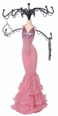 Pink Sparkling Dress Form Jewelry Stand Tree Mannequin 15