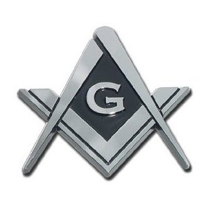 Masonic Square and Compasses Chrome Plated Premium Car Truck Motorcycle Emblem (Car Emblem Chrome compare prices)