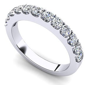 14k White Gold, Perfect Diamond Band, 1.05 ct. (Color: HI, Clarity: SI2)