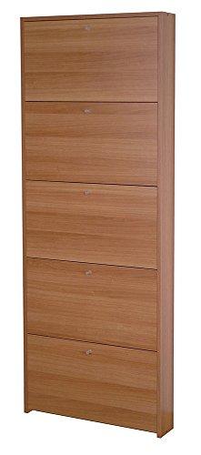 VALENTINI - Scarpiera a cinque ribalte in noce madera noce madera 9542012 L67h164p15cm