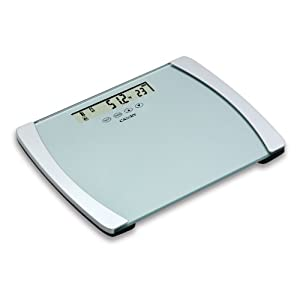 Camry 440lb BMI Digital Body Scale with Ultra Wide Platform and Large 6.3 Inches Display (Silver Grey)