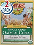 Earths Best Certified Organic Whole Grain Oatmeal Cereal -- 8 oz Each / Pack of 2