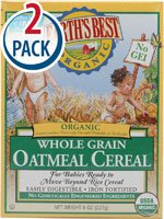 Earth'S Best Certified Organic Whole Grain Oatmeal Cereal -- 8 Oz Each / Pack Of 2 front-1076621