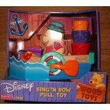 Disney Sing 'n Row Pull Toy, Winnie The Pooh, Wood Toys - 1