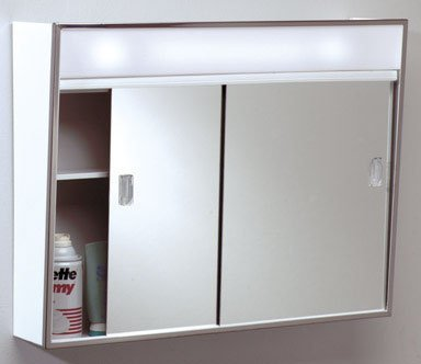 Zenith products lghtd slide med cabinet 701l pack qty o for Zenith bathroom cabinets