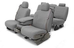 Coverking CSC1A2VO7026 Charcoal Leatherette Custom Seat Cover