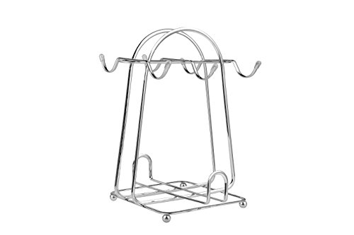 Stainless steel wire Rack for Organizing 6saucers & 6cups & 6spoons/espresso Set Rack /Tea Set Display Stand/cabinet Stacker/kitchen Handling Case (Silver) (Espresso Cup Stand compare prices)