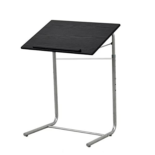 GreenForest Simple Portable Table Adjustable Folding Bed Tray Laptop Desk Reading Notebook Stand Black (Tray Table Adjustable compare prices)