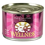 Wellness Canned Dog Food for Adult Dogs, Super5Mix Duck and Sweet Potato Recipe (Pack of 24 6 Ounce Cans)