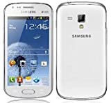 "Samsung Galaxy S DUOS S7562 Unlocked GSM Phone with Dual SIM, Android 4.0 OS, 4"" Touchscreen, 5MP Camera + Seconday VGA Camera, Video, GPS, Wi-Fi, Bluetooth, Stereo FM Radio, MP3/MP4 Player and microSD Slot - White"