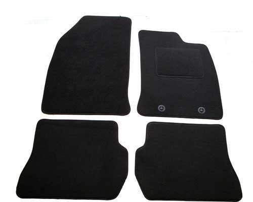 Black Rubber Tailored Car Mats For Vauxhall Corsa 2007 Onwards