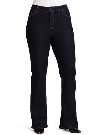 NYDJ Women's Plus-Size Abbie Flare Jean, Dark Enzyme, 18W