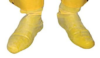 Global Glove B260 FrogWear Latex Nuclear Hazmat Chemical Resistent Boot, 50 mil Thick, 2X-Large, Yellow (Case of 50 Pairs)