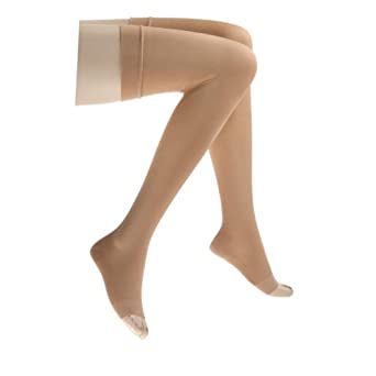 Relief 20-30 mmHg Open Toe Garter Style Thigh High Support Stocking without Grip-Top... by Jobst