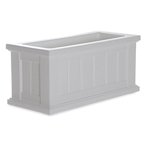 Mayne Rectangle Polyethylene Cape Cod 24 x 11 Patio Planter (Resin Rectangular Planter compare prices)