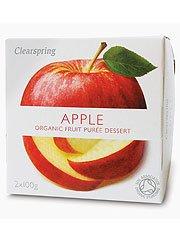 Clearspring Purée de fruit d'Apple 2 X 100g x 4