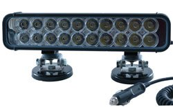 Led Ir Illuminator Light - 20 Led - 60 Watts - 9-42V - 750/850/940Nm - 750'L X 110'W(-Flood-940Nm-Wh