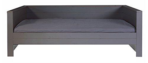 Lit canapé enfant anthracite, H73 x L219 x P101 cm -PEGANE-