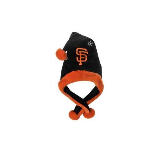 SF Giants MLB Official Team logo stadium Dangle Santa Hat *NEW ITEM*