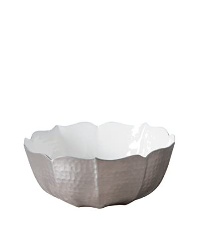 Torre & Tagus Medium Flora Enameled & Hammered Aluminum Bowl