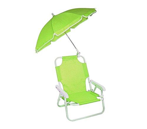 2576-Sedia-pieghevole-per-bambini-di-colore-verde-con-ombrellino-protezione-raggi-uv-MWS