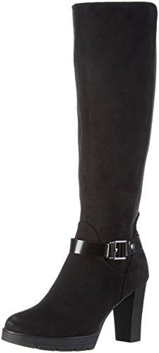 TOM TAILOR1690805 - Stivali alti non imbottiti Donna , Nero, 38
