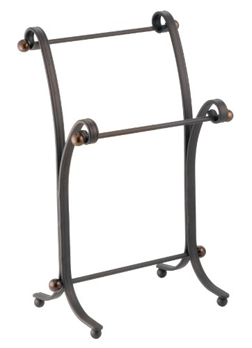 InterDesign York Metal Towel Stand, Bronze