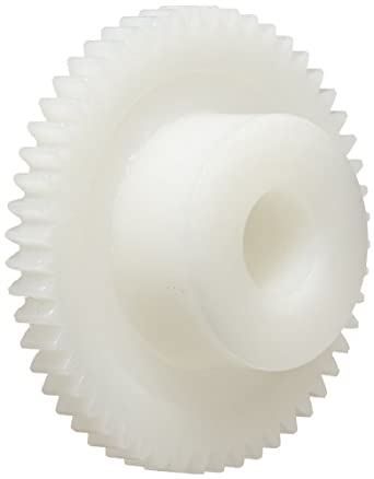 Smallparts Spur Gear, 20 Degree Pressure Angle, Polyoxymethylene, Inch, 48 Pitch