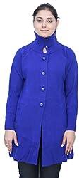 Romano Women's Classic Knit Long Wool Blue Sweater Cardigan Coat