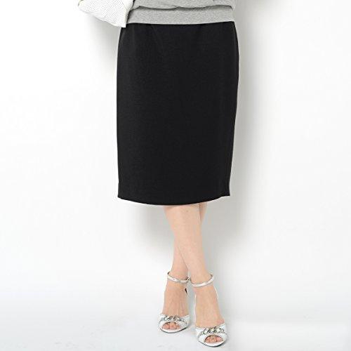 カーブクロッシェ (Cavecrochet) オフィス 対応 マタニティ ミモレ丈 スカート ブラック L