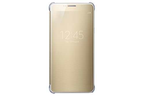 Samsung Galaxy Note 5 Case  S-View Clear Flip Cover Folio- Gold
