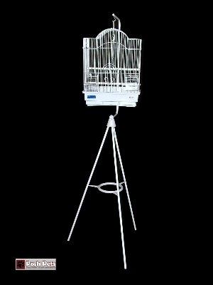 Cheap Farina White Bird Cage And Black Tripod Stand Combination (201C2VV)