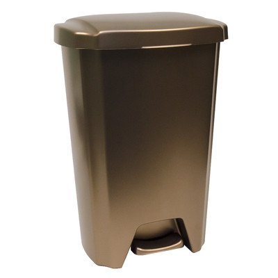 Hefty 13 Gallon Step On Trash Can - Bronze (Big Kitchen Trash Can compare prices)